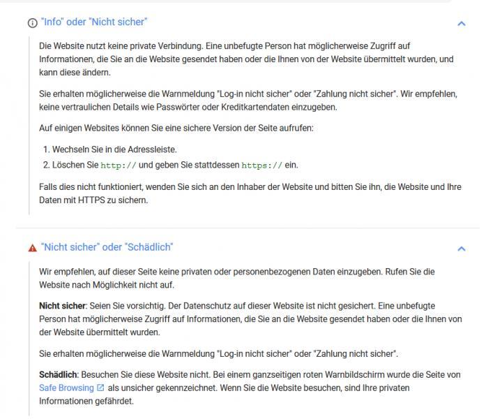 Google will das Internet sicherer machen.Dazu werden alle Seiten die nicht das neue HTTPS verwenden als unsicher markiert.